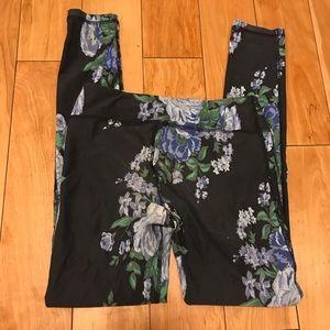 Albion Fit Antigua floral blue leggings S